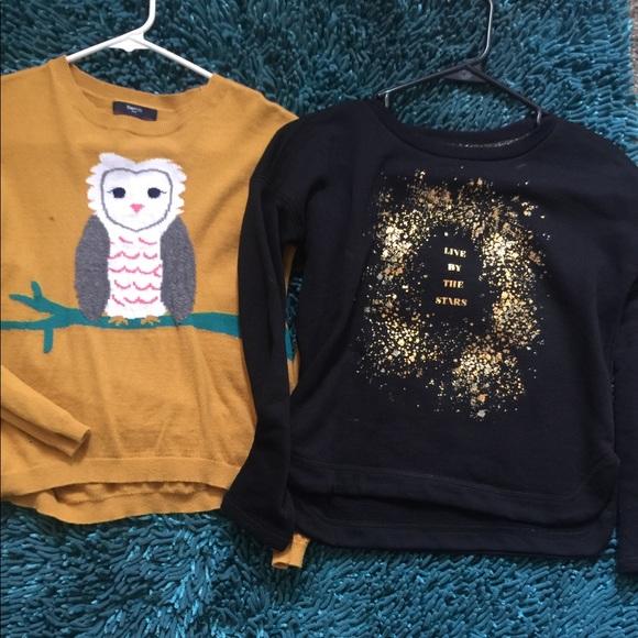 Gap Old Navy Shirts Tops Bundle Deal Girls Sweaters Poshmark